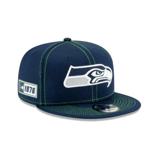 New Era Seattle Seahawks Cap On Field 9FIFTY blau