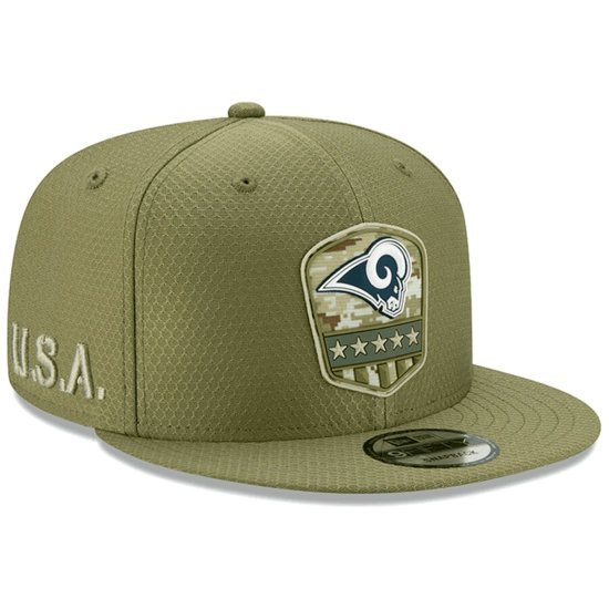 New Era Los Angeles Rams Cap Salute To Service 9FIFTY oliv