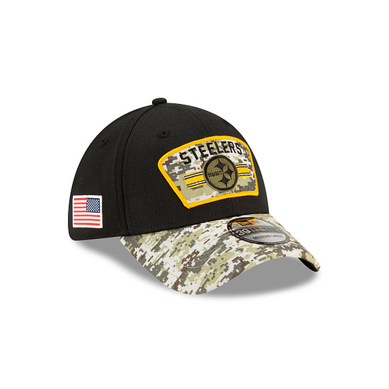 New Era Pittsburg Steelers Cap Salute To Service 39THIRTY 2021 schwarz