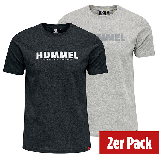 hummel 2er Set T-Shirt Legacy schwarz/grau