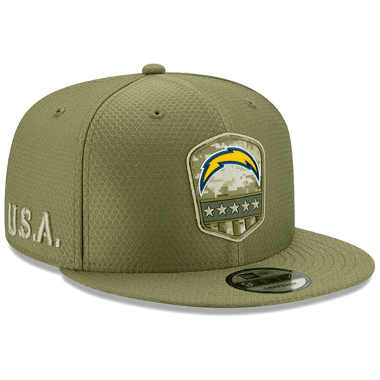 New Era Los Angeles Chargers Cap Salute To Service 9FIFTY oliv