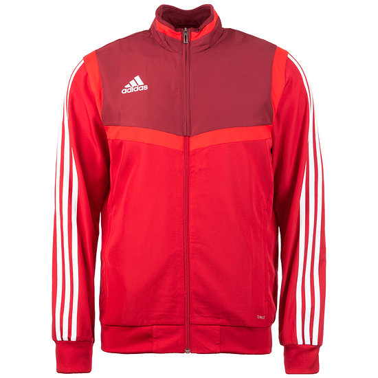 Adidas Fitness-Jacke Tiro 19 Rot