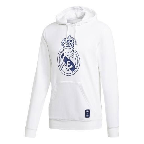 Adidas Real Madrid Hoodie Wappen 2020/2021 Weiß