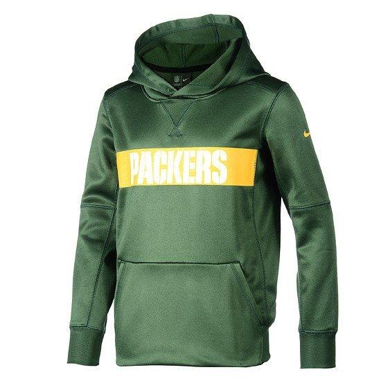 Nike Green Bay Packers Hoodie Therma Kinder grün