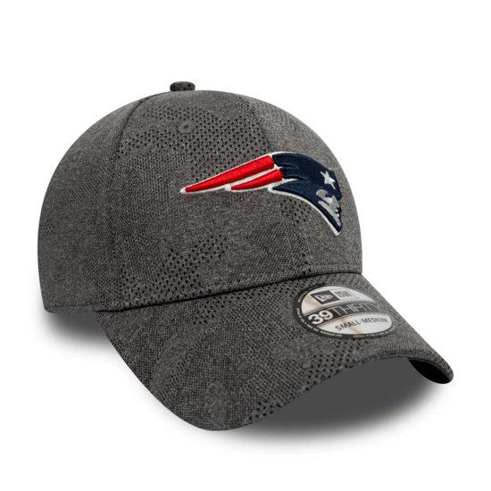 New Era New England Patriots Cap Engineered Plus 39THIRTY grau