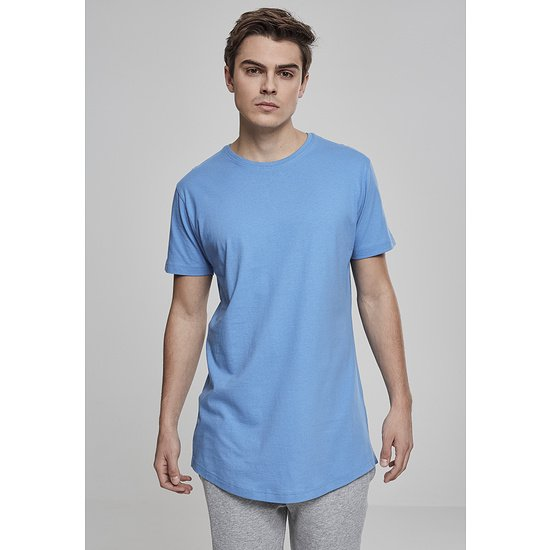 URBAN CLASSICS T-Shirt Shaped Long hellblau