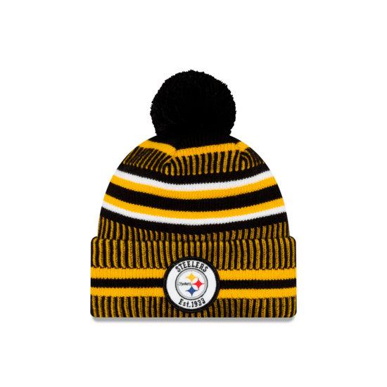 New Era Pittsburgh Steelers Beanie On Field Sport Knit HM schwarz