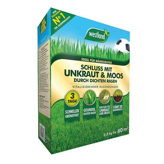 Westland Rasendünger Schluss mit Unkraut und Moos 80m² / 8 kg