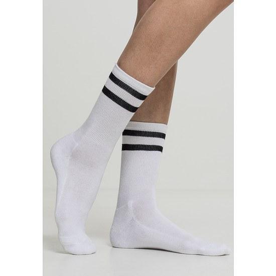 URBAN CLASSICS Socken 2-Stripe 2er-Pack weiß/schwarz
