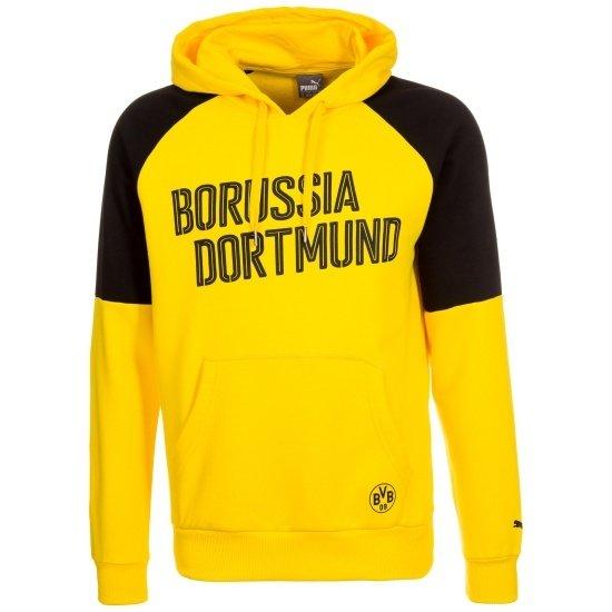 Puma Borussia Dortmund Hoodie Schriftzug Dortmund Gelb