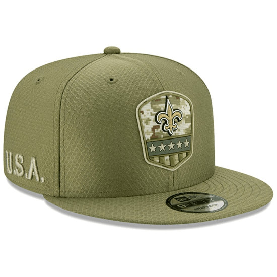 New Era New Orleans Saints Cap Salute To Service 9FIFTY oliv