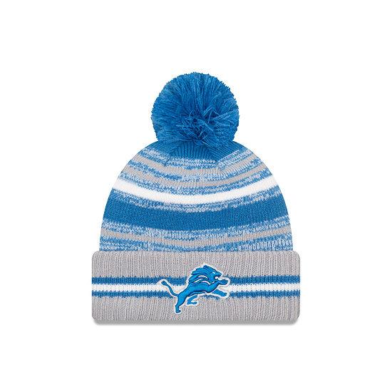 New Era Detroit Lions Beanie Sport Knit Cold Weather blau