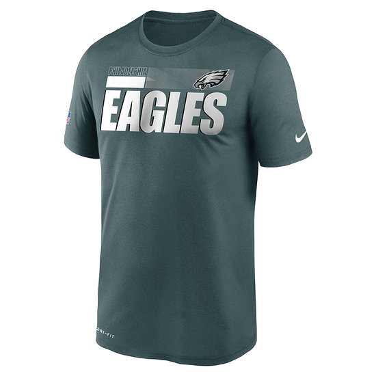 Nike Philadelphia Eagles T-Shirt Team Name Sideline blau