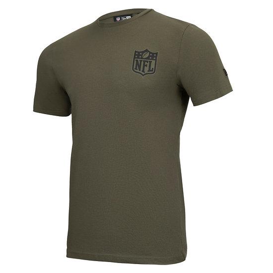 New Era NFL Shield T-Shirt Camo Injection grün