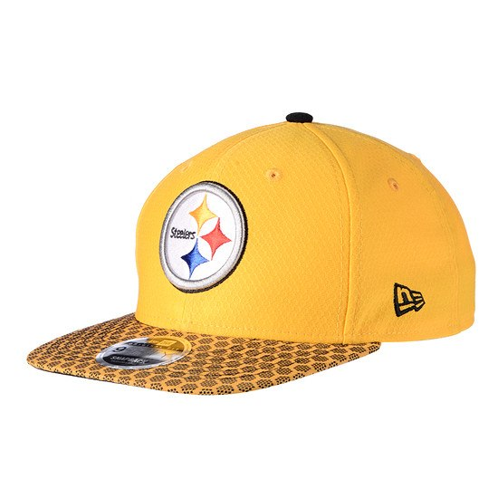 New Era Pittsburgh Steelers Cap Sideline 9FIFTYOF Dots gelb