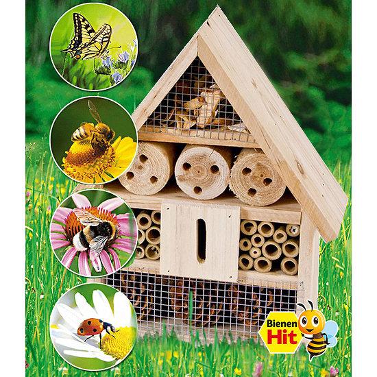Garten-Welt Bienen- & Insektenhaus 1 Stück braun