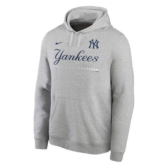 Nike New York Yankees Hoodie Color Bar Club grau