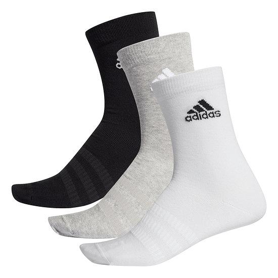 Adidas Sportsocken 3er Pack LIGHT CREW Schwarz/Grau/Weiß