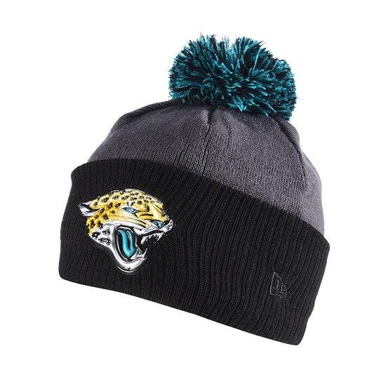 New Era Jacksonville Jaguars Bommelmütze Liquid Logo grau