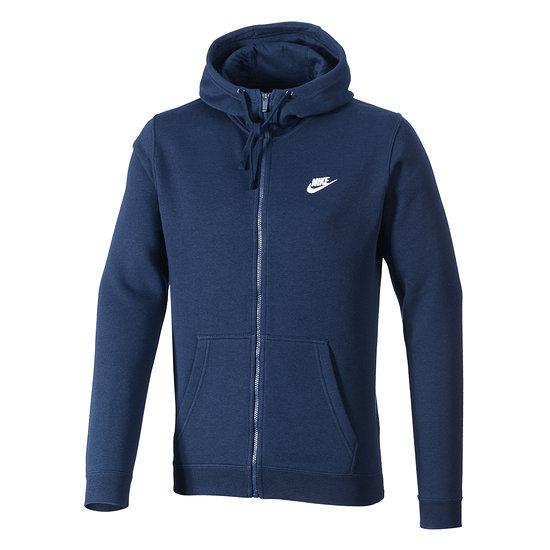 Nike ZIP Hoodie Sportswear Swoosh Blau