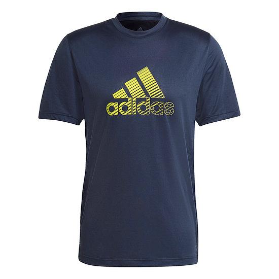 Adidas T-Shirt Logo Balken Blau