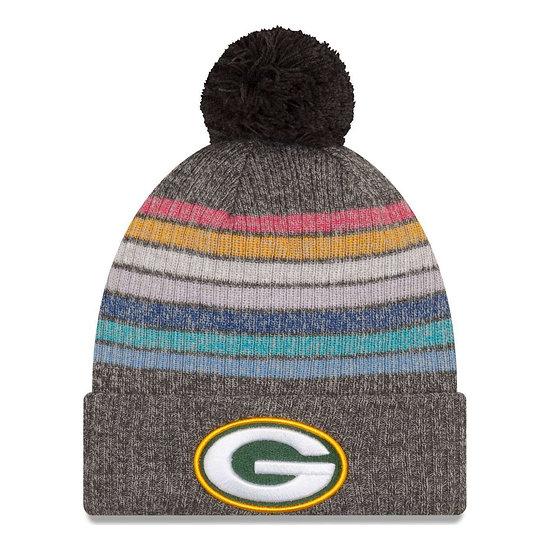 New Era Green Bay Packers Beanie Crucial Catch Knit Damen bunt/grau