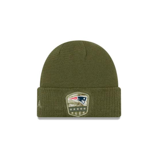 New Era New England Patriots Beanie Salute To Service oliv