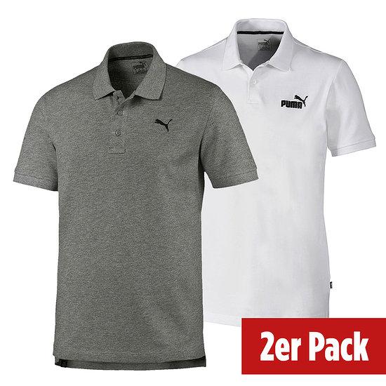 Puma Poloshirt ESS 2er Set Weiß/Grau