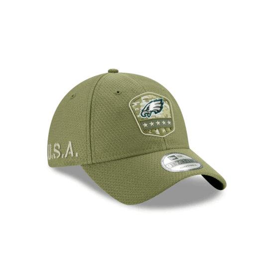 New Era Philadelphia Eagles Cap Salute To Service 9TWENTY oliv
