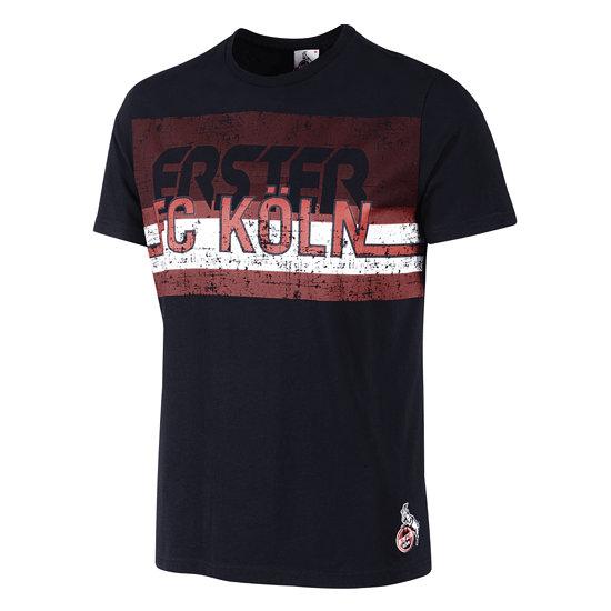 """1. FC Köln T-Shirt """"BREITE STR."""" Schwarz"""