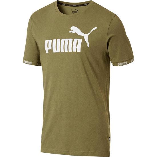 Puma T-Shirt Amplified Big Logo Oliv