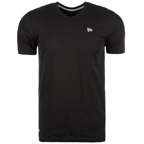 New Era T-Shirt Emblem schwarz