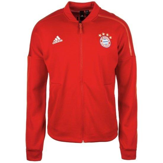 Adidas FC Bayern München Jacke Rückenlogo Rot