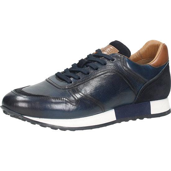 Sansibar Schuh Leder dunkelblau
