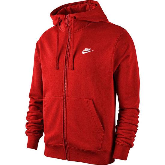 Nike Kapuzensweatjacke SW Club Rot