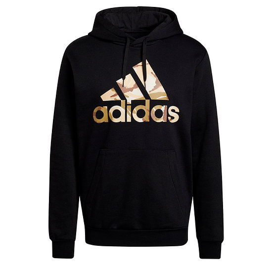 Adidas Hoodie M Camo Schwarz