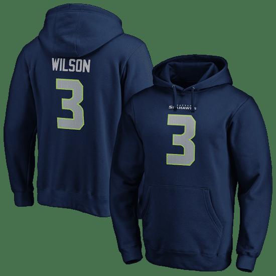 Fanatics Seattle Seahawks Hoodie N&N Wilson No 3 navy
