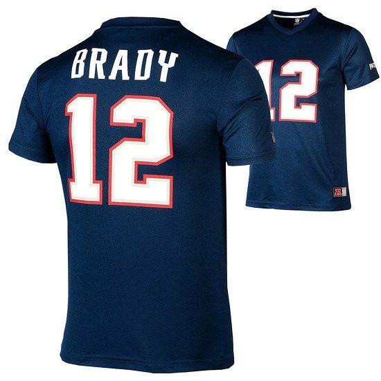 Majestic Athletic New England Patriots PolyMesh T-Shirt Brady Nr 12 blau