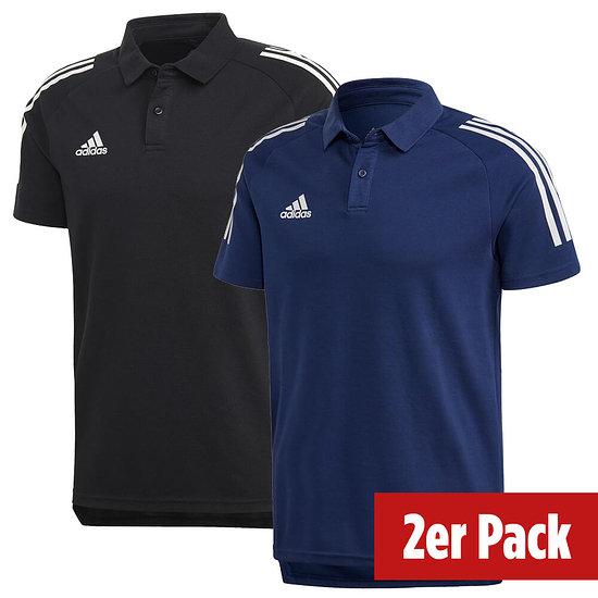 Adidas 2er Set Poloshirt Condivo 20 Schwarz/Dunkelblau