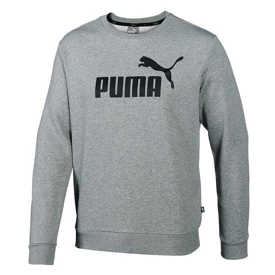 Puma Sweatshirt ESS Logo Crew Big Logo Grau