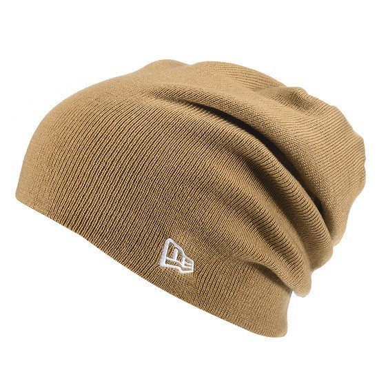 New Era Beanie Essential Long Knit sand