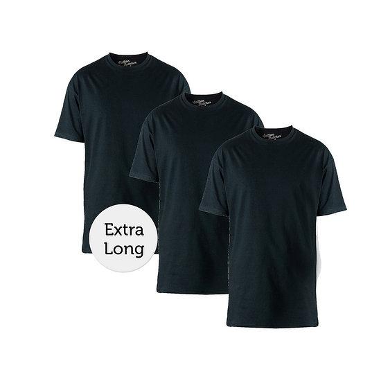 Cotton Butcher T-Shirt Texas Rundhals 3er Pack schwarz