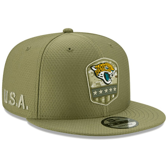 New Era Jacksonville Jaguars Cap Salute To Service 9FIFTY oliv