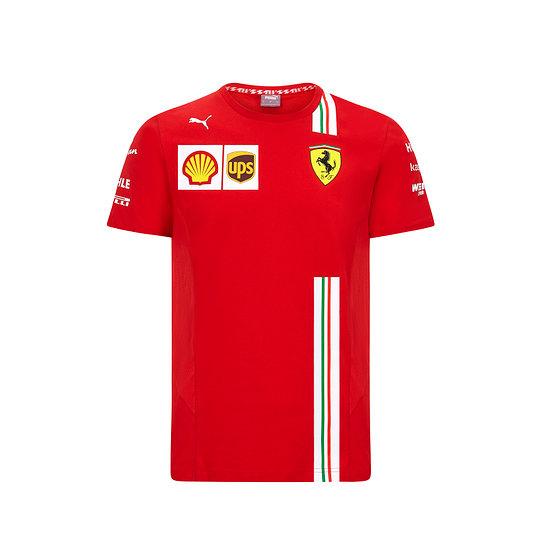 Ferrari T-Shirt Team 2021 rot