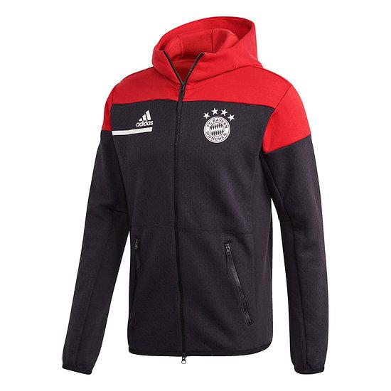 Adidas FC Bayern München Kapuzenjacke Fleece ZNE 2020/2021 Rot