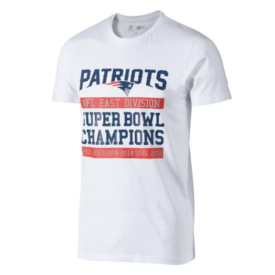 New Era New England Patriots T-Shirt Large Graphic weiß