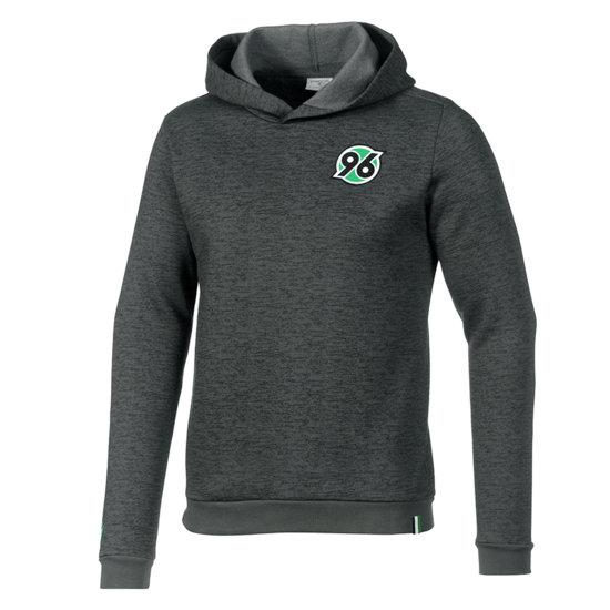 Macron Hannover 96 Hoodie Fan Line grau/grün