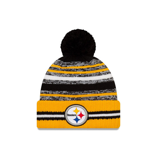New Era Pittsburgh Steelers Beanie Sport Knit Cold Weather gelb