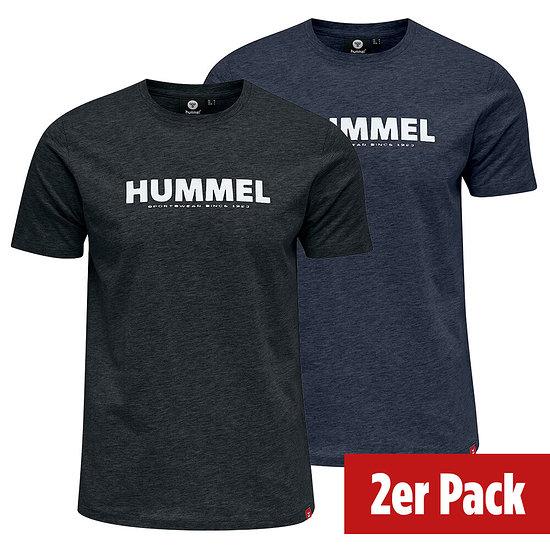 hummel 2er Set T-Shirt Legacy schwarz/blue nights