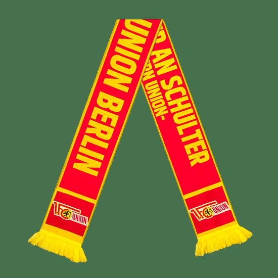 1. FC Union Berlin Schal Schulter an Schulter rot/gelb